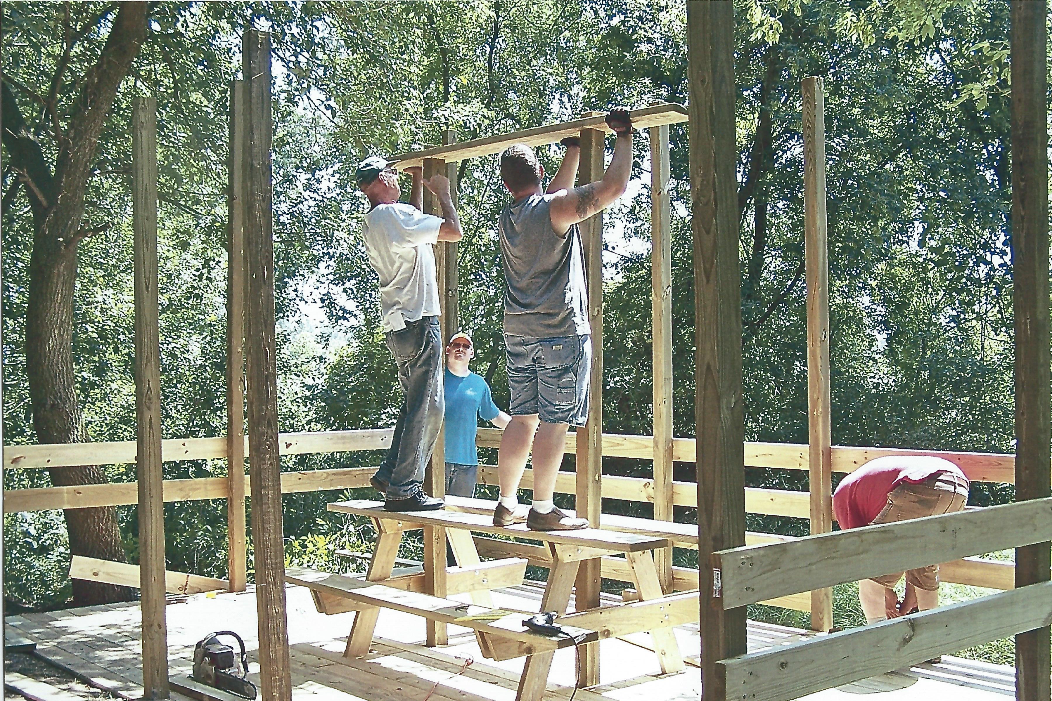 7. Volunteers Constructing Observation Deck - Marne/Conklin