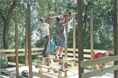 7. Volunteers Constructing Observation Deck - Marne/Conklin