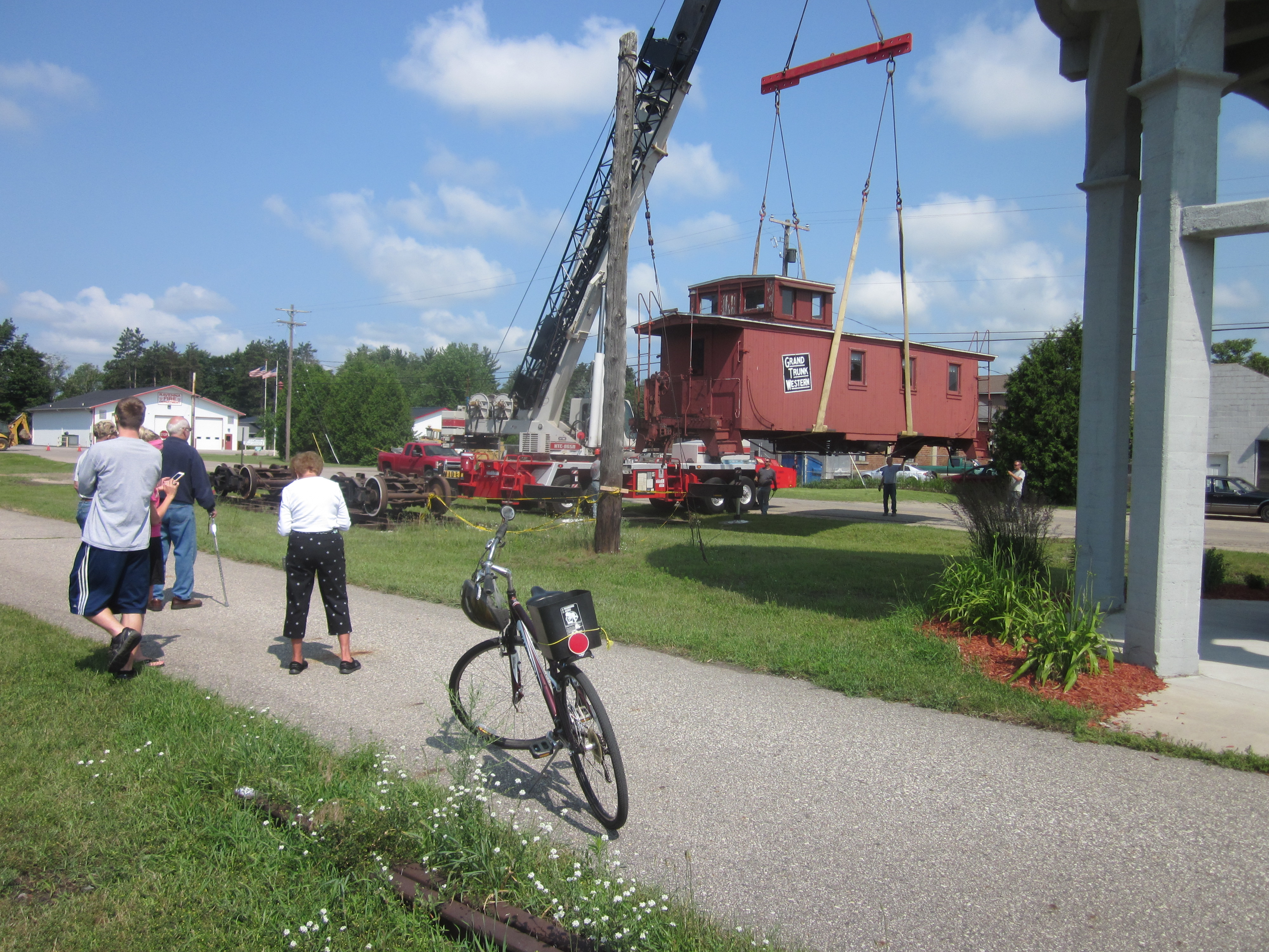 8. Delivery of Caboose at Ravenna Trail Head