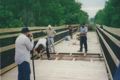 2. Building Trestle Decking & Railing Over Crockery Creek - Ravenna