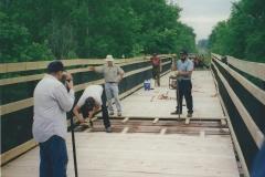 2. Building Trestle Decking & Railing Over Crockery Creek - Ravenna