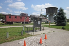 7. Caboose Installation at Ravenna Trail Head