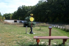 4. Broadway Trailhead with Railroad Switch Unit and Bench