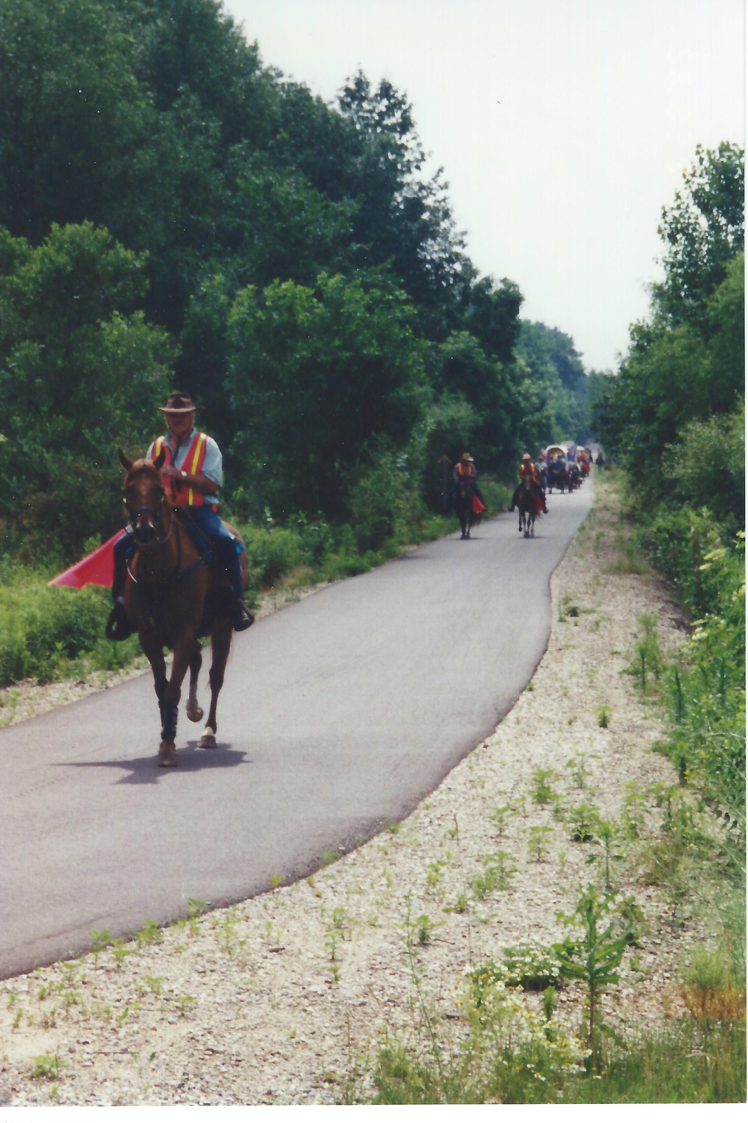 3. Equestrians Using the Trail
