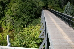 Wooden Bridge Over Creek on the Musketawa Trail